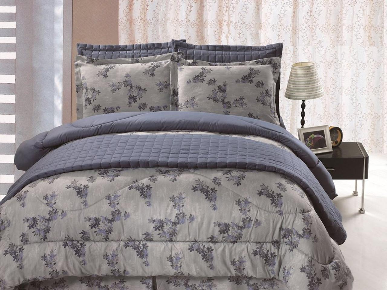6 pc Microfiber Reversible Floral Print Comforter Set Quilt Included in USA, California, New York, New York City, Los Angeles, San Francisco, Pennsylvania, Washington DC, Virginia, Maryland