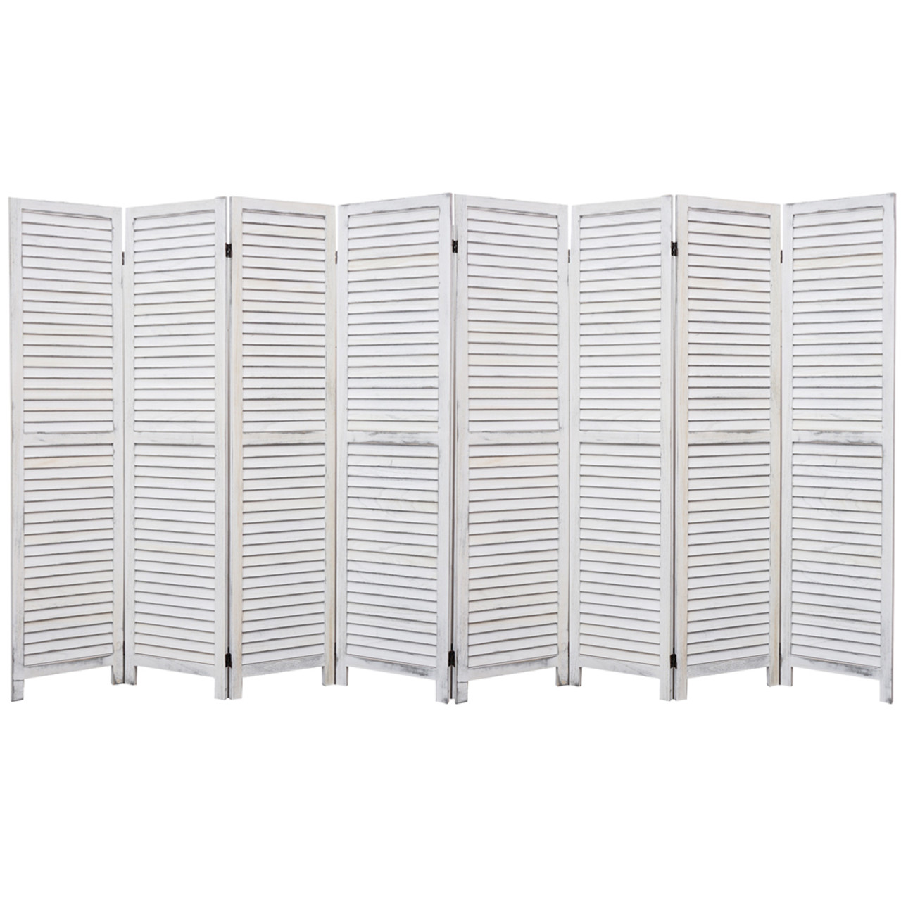 4, 6, 8 Panel Room Divider Full Length Wood Shutters White in USA, California, New York, NY City, Los Angeles, San Francisco, Pennsylvania, Washington DC, Virginia, Maryland