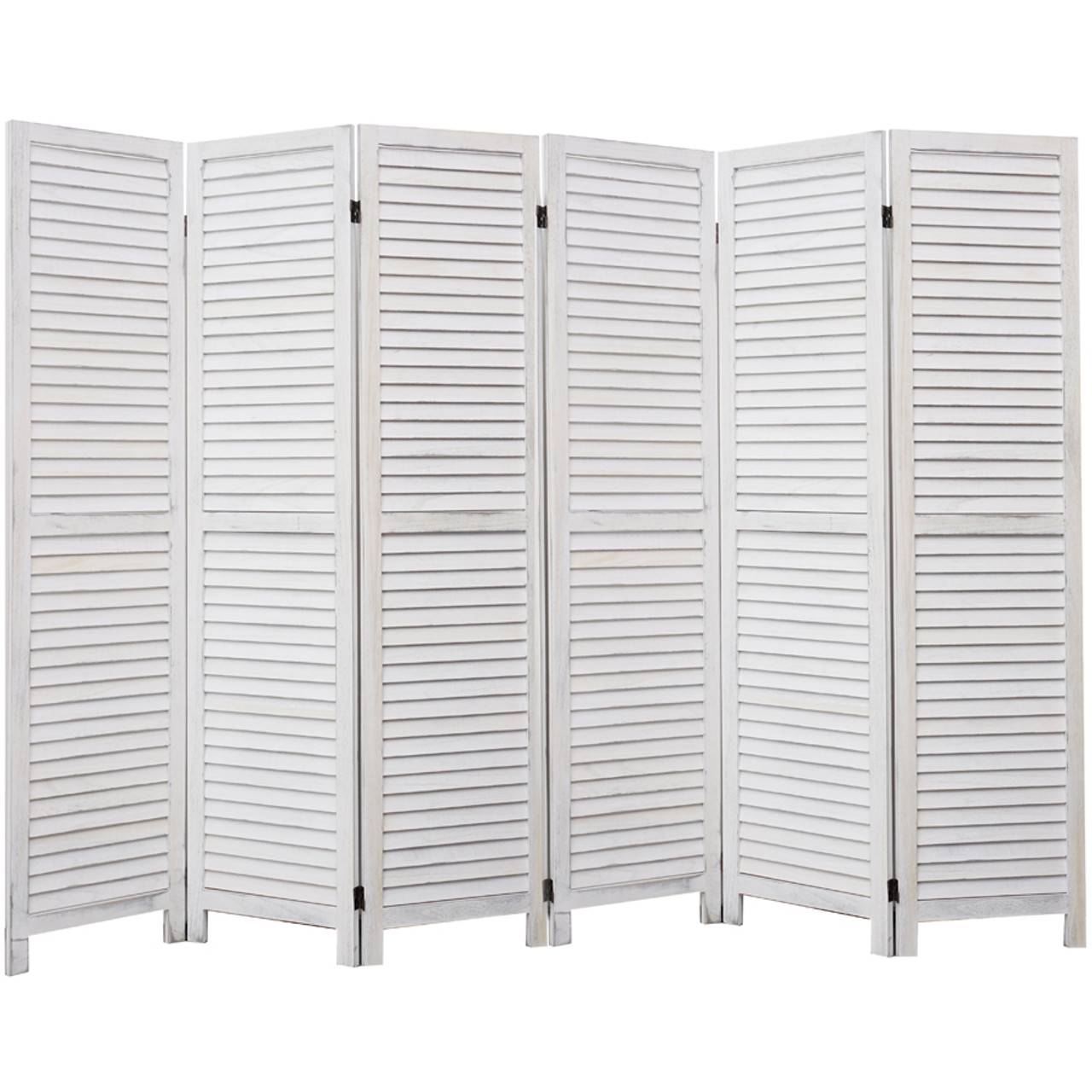 4, 6, 8 Panel Room Divider Full Length Wood Shutters White in USA, California, New York, New York City, Los Angeles, San Francisco, Pennsylvania, Washington DC, Virginia and Maryland