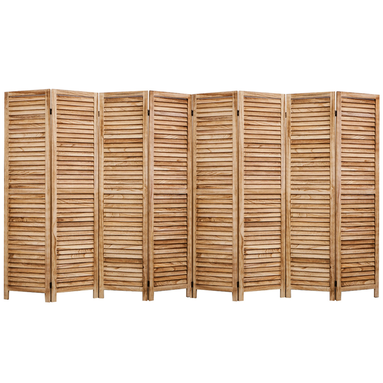 4, 6, 8 Panel Room Divider Full Length Wood Shutters Natural in USA, California, New York, NY City, Los Angeles, San Francisco, Pennsylvania, Washington DC, Virginia, Maryland
