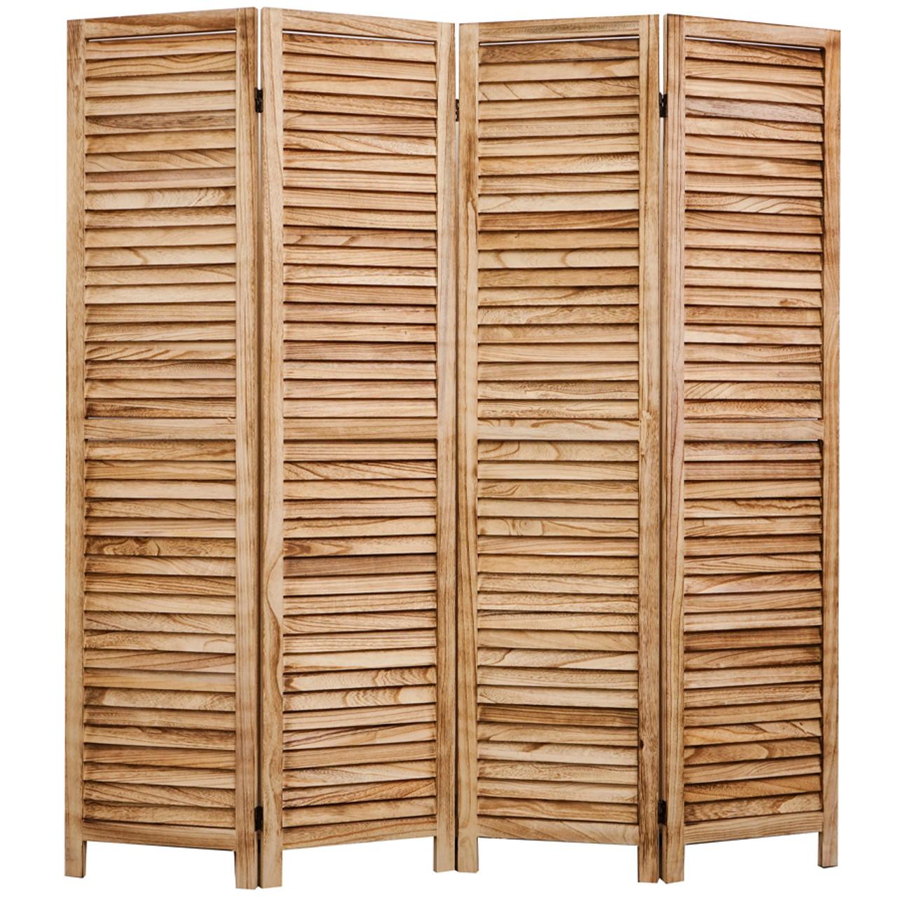 4, 6, 8 Panel Room Divider Full Length Wood Shutters Natural in USA, California, New York, New York City, Los Angeles, San Francisco, Pennsylvania, Washington DC, Virginia, Maryland