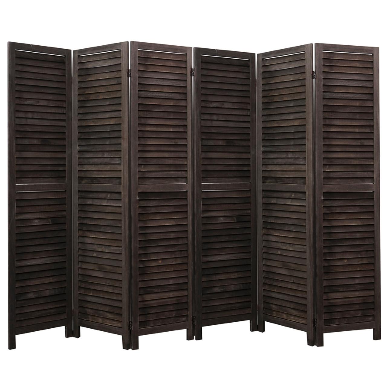 4, 6, 8 Panel Room Divider Full Length Wood Shutters Black in USA, California, New York, New York City, Los Angeles, San Francisco, Pennsylvania, Washington DC, Virginia and Maryland