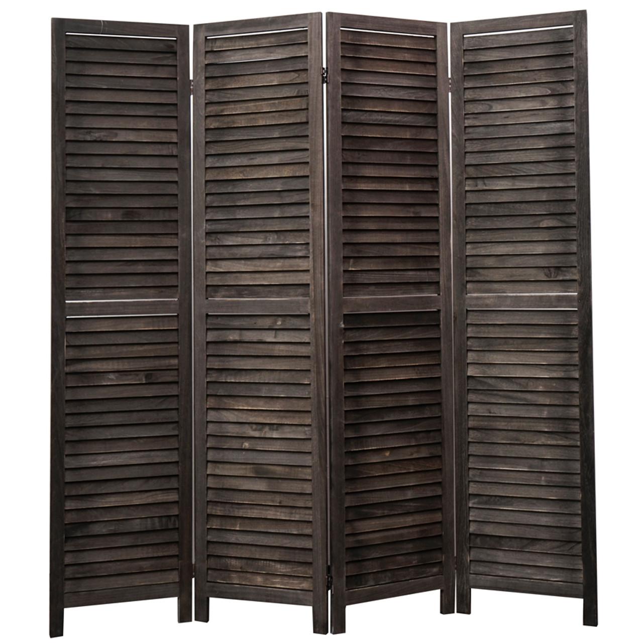 4, 6, 8 Panel Room Divider Full Length Wood Shutters Black in USA, California, New York, New York City, Los Angeles, San Francisco, Pennsylvania, Washington DC, Virginia, Maryland