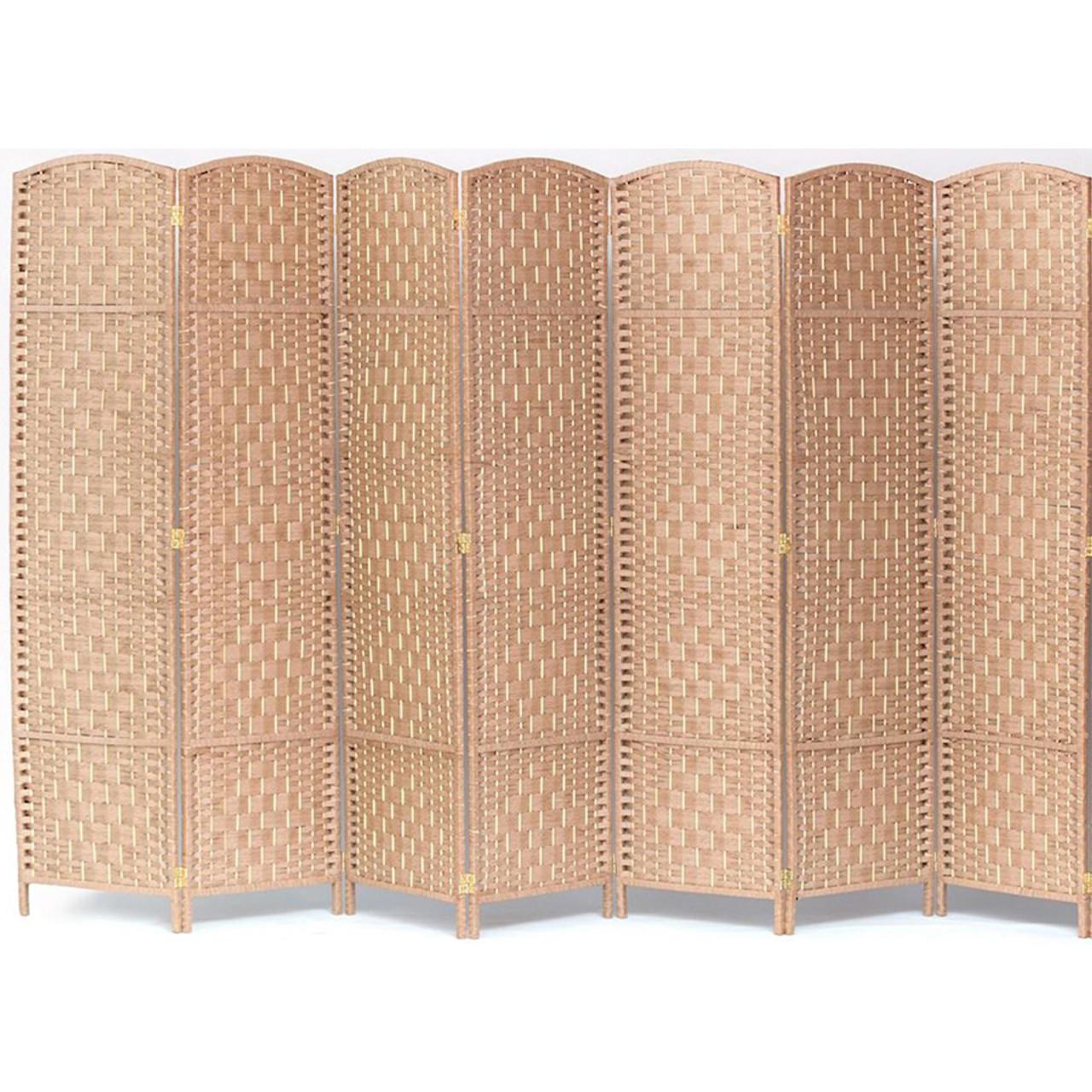 7 Panel Room Divider, Privacy Partition Screen Bamboo Woven Panel in USA, California, NY, New York City, Los Angeles, San Francisco, Pennsylvania, Washington DC, Virginia, Maryland