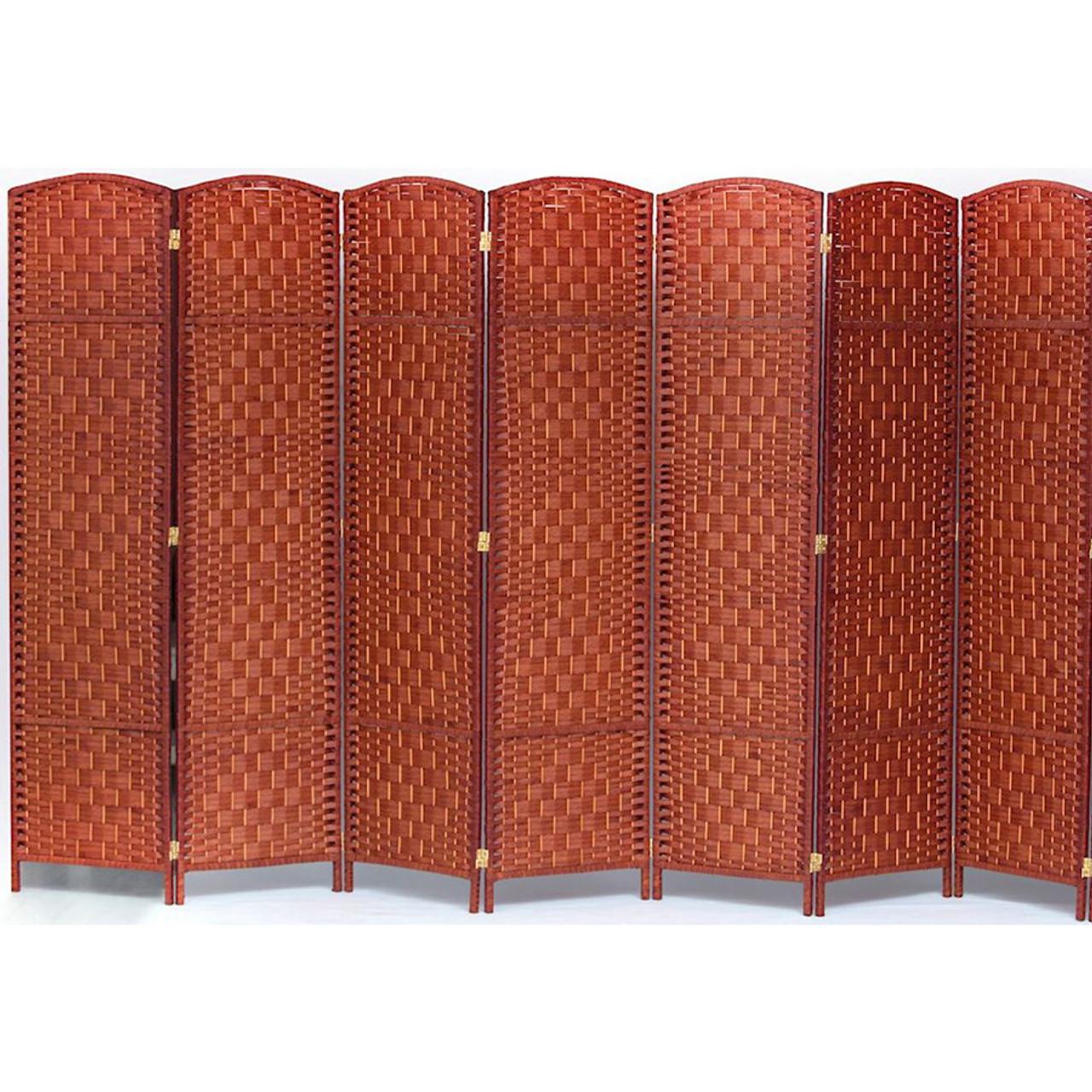 7 Panel Room Divider, Privacy Partition Screen Bamboo Woven Panel in USA, California, New York, NY City, Los Angeles, San Francisco, Pennsylvania, Washington DC, Virginia, Maryland