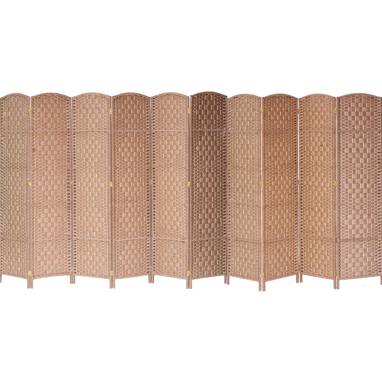 10 Panels Room Divider, Privacy Partition Screen Bamboo Woven Panel in USA, California, NY, New York City, Los Angeles, San Francisco, Pennsylvania, Washington DC, Virginia and Maryland