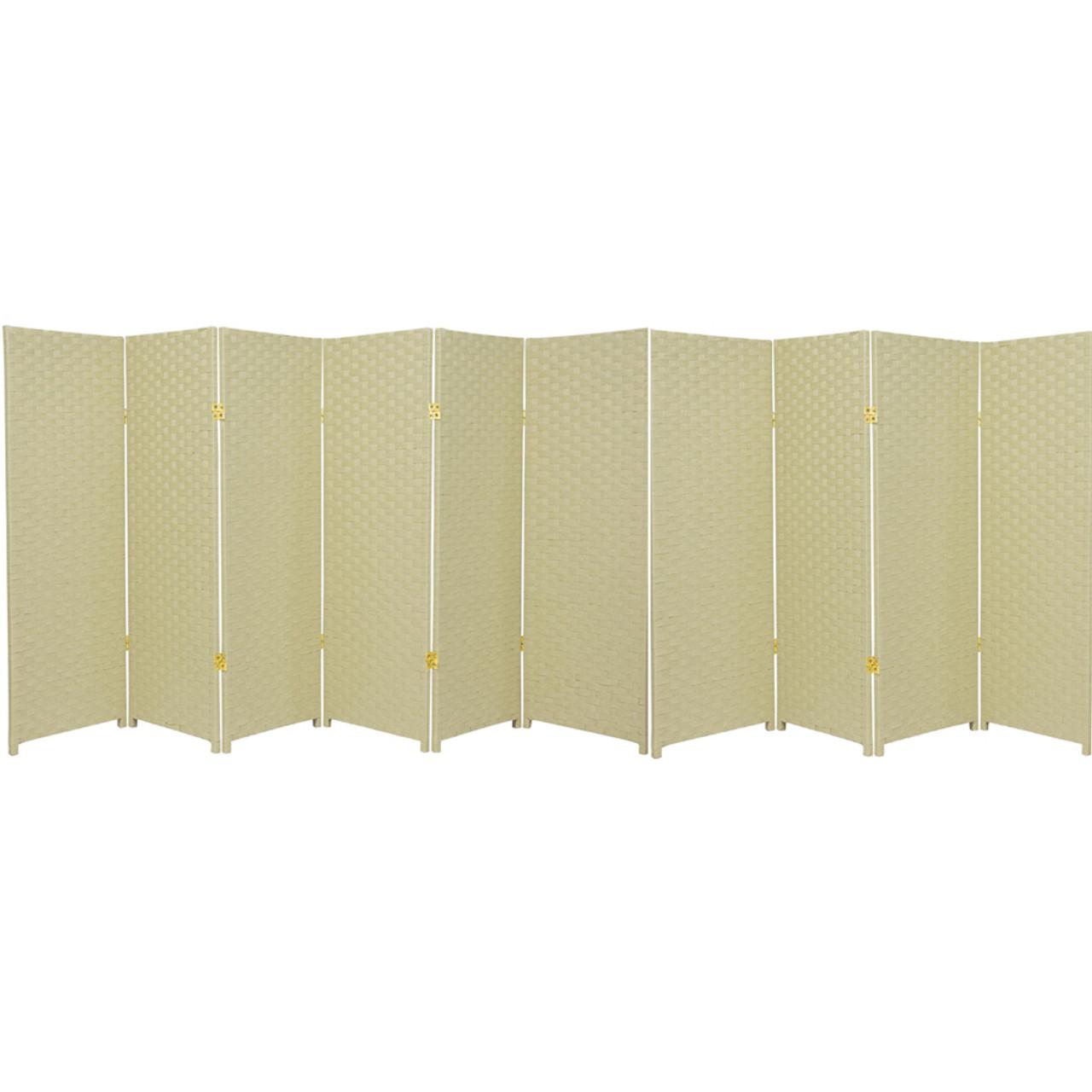 10 Panel Room Divider Privacy Screen, Bamboo Woven Panel in USA, California, NY, New York City, Los Angeles, San Francisco, Pennsylvania, Washington DC, Virginia, Maryland