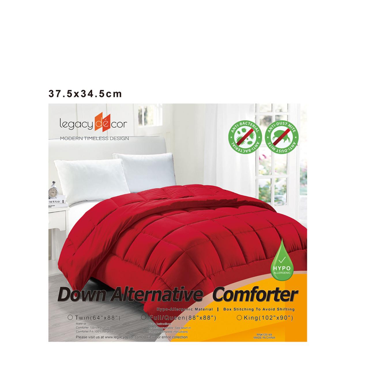 Down Alternative Hypoallergenic Comforter Red Color in USA, California, New York, Los Angeles, San Francisco, Pennsylvania, Washington DC, Virginia, Maryland
