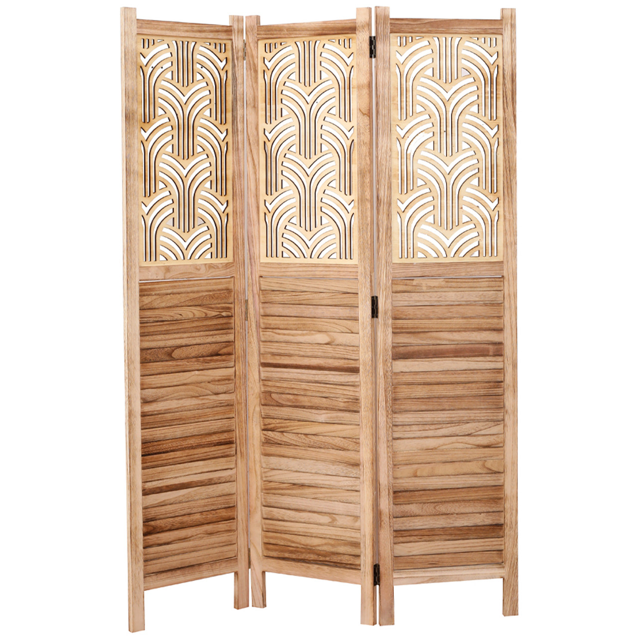 3 Panel Rustic solid wood with decorative detail room divider in USA, California, New York, New York City, Los Angeles, San Francisco, Pennsylvania, Washington DC, Virginia, Maryland