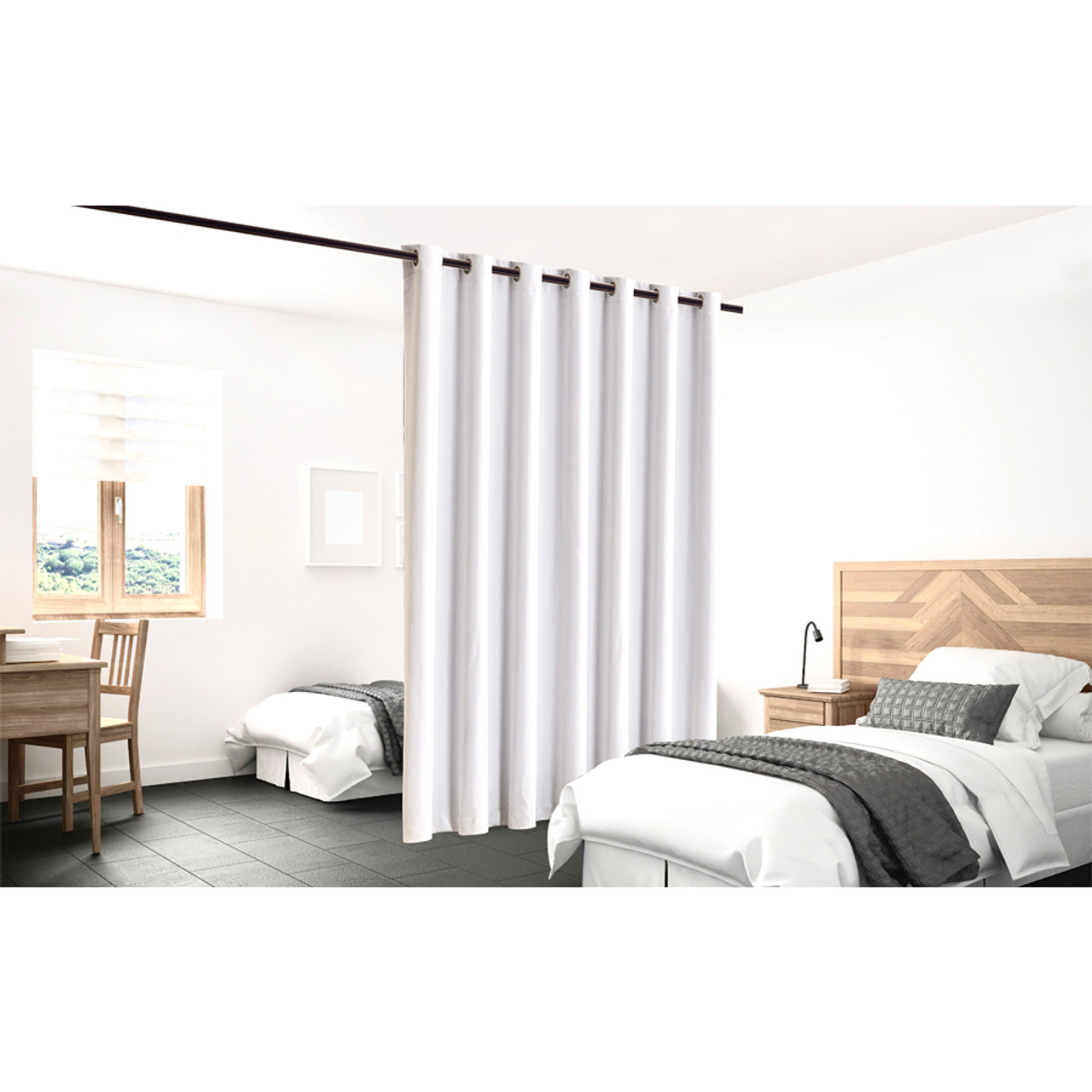 Blackout Room Divider Curtain Panel Thermal Insulated White Color in California, New York, New York City, Los Angeles, San Francisco, Pennsylvania, Washington DC, Virginia, Maryland