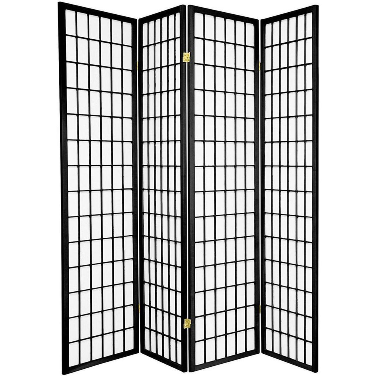 4 panels room divider privacy screen