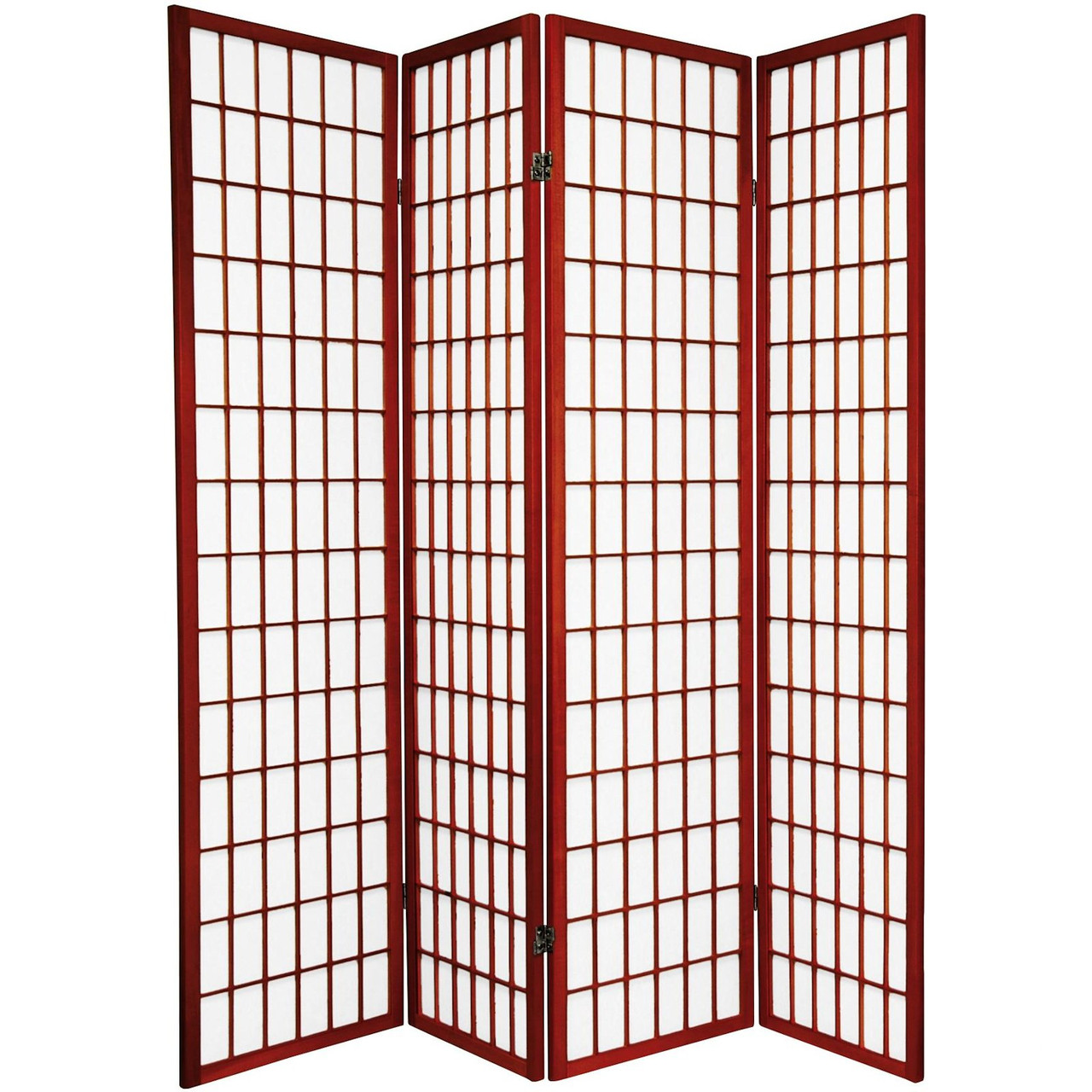 4 Panel Room Dividers Shoji Design Black, White, Cherry, Espresso, or Natural Color