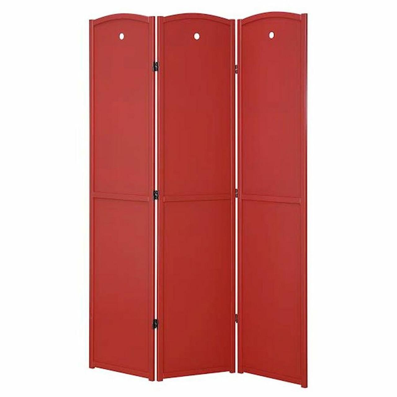 Room Divider 3 Panel Solid Wood Blue, Green, Honey, or Red Color