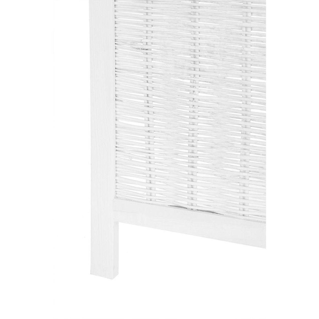 4 Panel Room Divider Wicker White or Brown Color