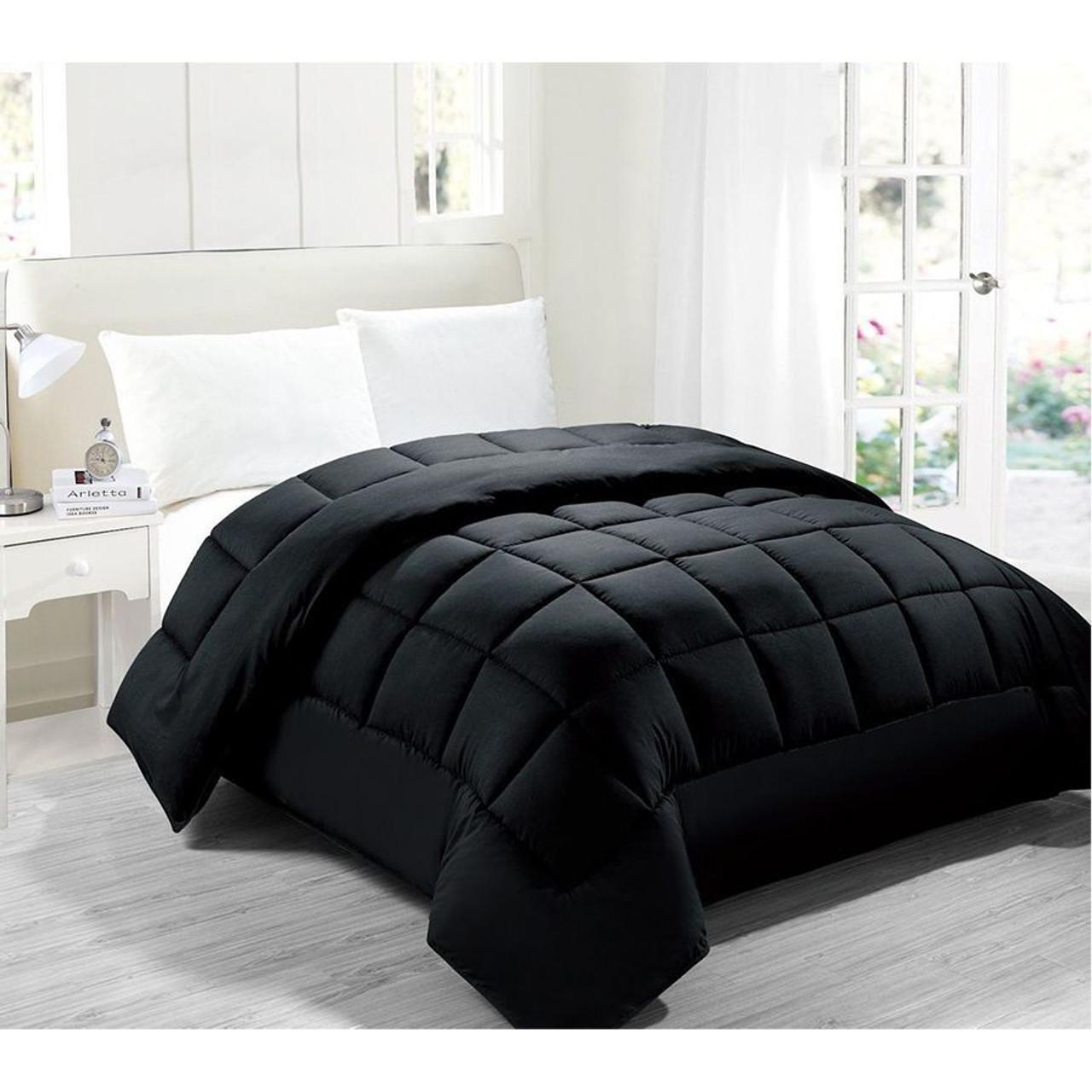 Down Alternative Comforter Hypoallergenic anti-dustmite anti-bacterial Black Color