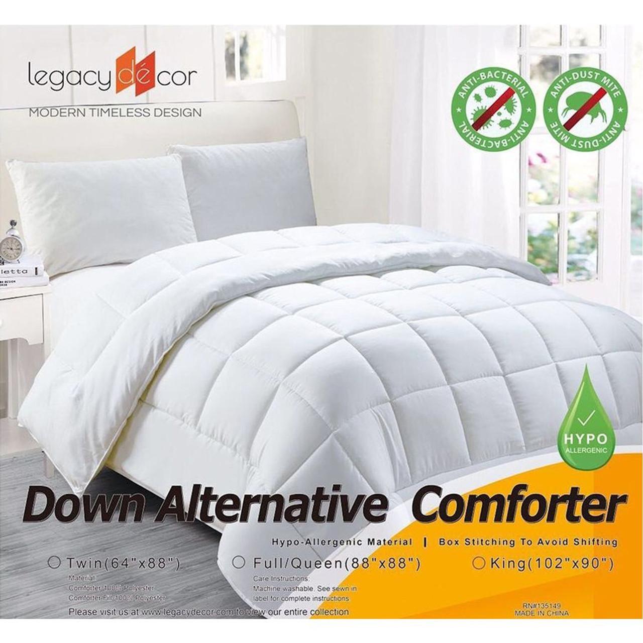 Down Alternative Hypoallergenic Comforter, White Color