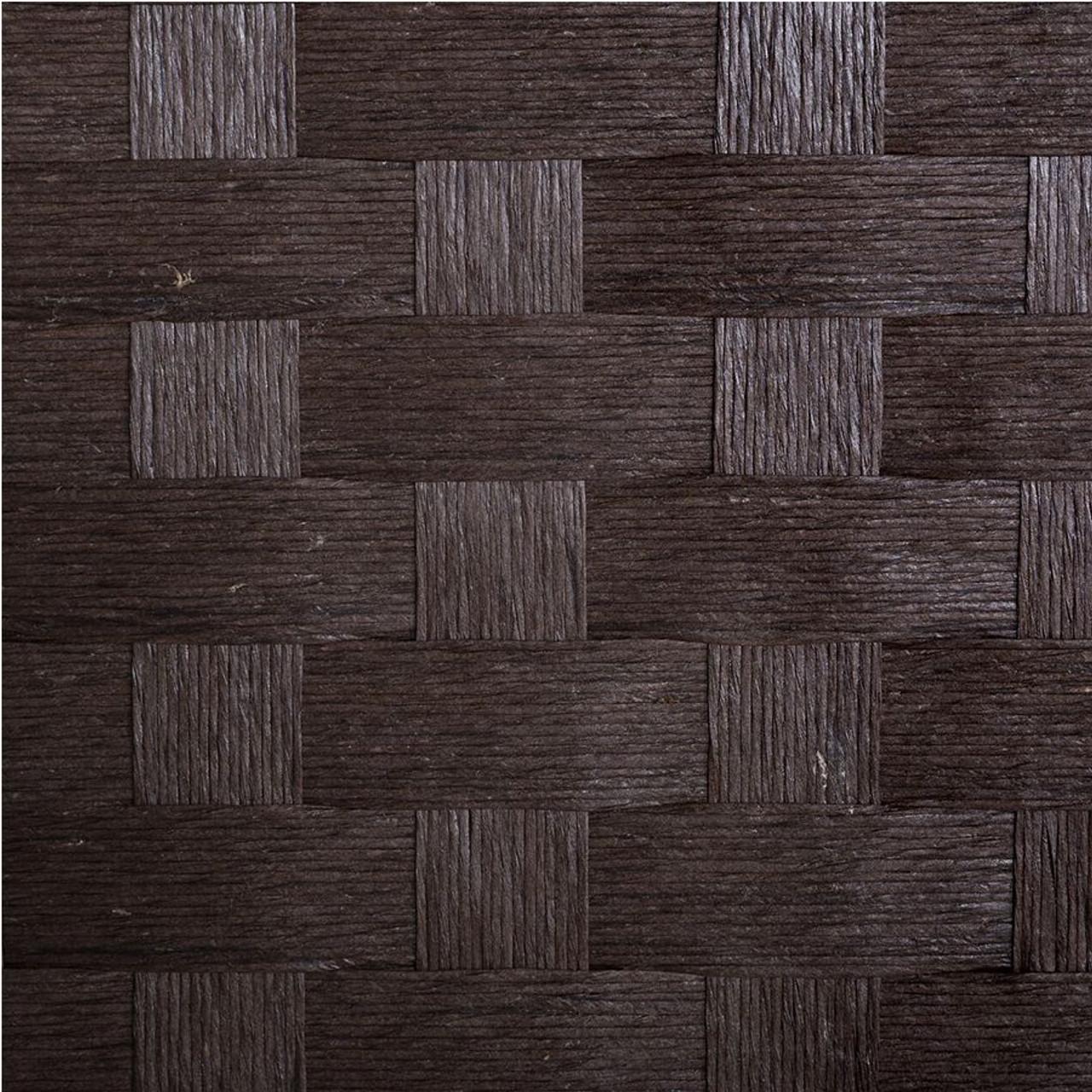 Room Divider 8 Panel Weave Design Fiber Brown Color