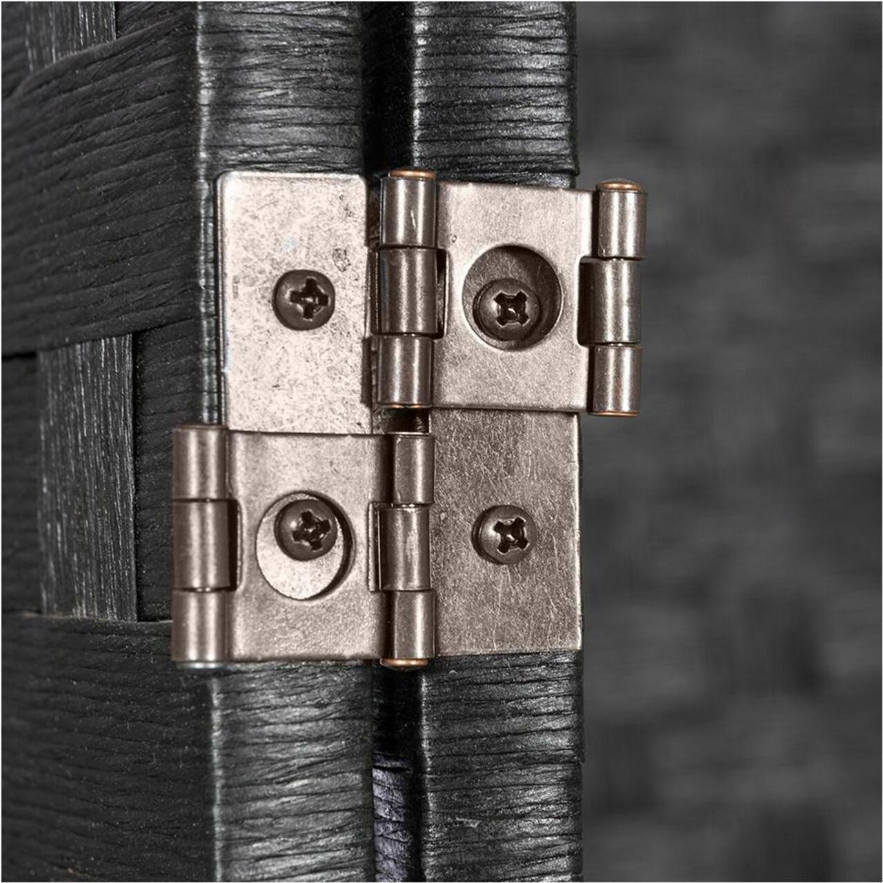 Room Divider 8 Panel Weave Design Fiber Black, Beige, Ivory, or Brown Color