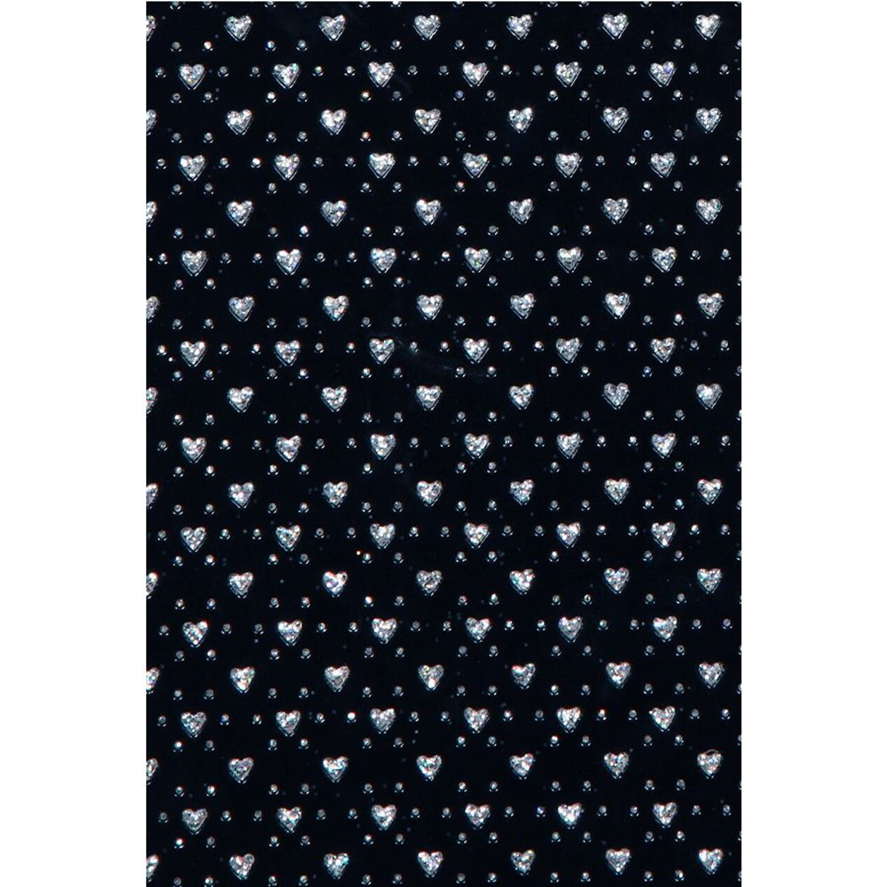 3 Panel Black Wood Screen Room Divider with Heart Shape Glitter