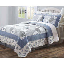 Legacy Decor 3 PC Quilted Bedspread Coverlet Brushed Microfiber Full Size Multi Animal Print Patchwork Design