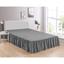 "Grey Bed Skirt Soft Dust Ruffle 100% Brushed Microfiber with 14"" Drop in USA, California, New York, New York City, Los Angeles, San Francisco, Pennsylvania, Washington DC, Virginia, Maryland"