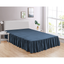 "Navy Bed Skirt Soft Dust Ruffle 100% Brushed Microfiber with 14"" Drop in USA, California, New York, New York City, Los Angeles, San Francisco, Pennsylvania, Washington DC, Virginia, Maryland"