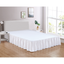 "White Bed Skirt Soft Dust Ruffle 100% Brushed Microfiber with 14"" Drop in USA, California, New York, New York City, Los Angeles, San Francisco, Pennsylvania, Washington DC, Virginia, Maryland"