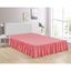 "Pink Bed Skirt Soft Dust Ruffle 100% Brushed Microfiber with 14"" Drop in USA, California, New York, New York City, Los Angeles, San Francisco, Pennsylvania, Washington DC, Virginia, Maryland"