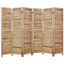 4 6 8 Panel Room Divider Full Length Wood Shutters Natural