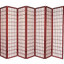 7 Panels Room Screen Divider,  Japanese Oriental Style