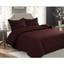 3 Pc Oversized Bedspread Coverlet Set Brown Color