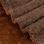 """Luxury Ultra Plush Shag and Soft Sherpa Fleece Decorative Throw Blanket, Brown Color 48"""" x 57"""""""