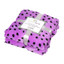 """Luxurious Ultra Soft Throw Blanket with Super Cozy Sherpa on backside, Purple w/ Black Polka Dots 50""""x 61"""""""