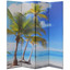 Room Divider 4, 6, or 8 Panel Canvas Double-Sided Virgin Islands Beach Design