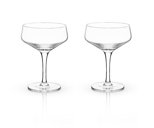 Viski Crystal Coupe Glass 7oz.Set/2