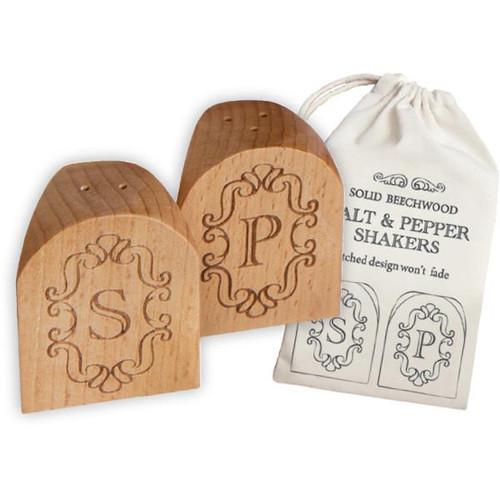 Beechwood Salt & Pepper Shakers
