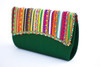 Emerald Green  Vegan Clutch Bag