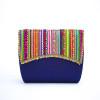 Raas- Blue Vegan Clutch Bag   strap