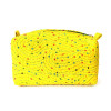 Yellow Hand Embroidered Wash Bags - set of two