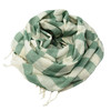 Green Bold Stripe Muslin Cotton Scarf