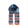 Blue and Peach soft cotton scarf