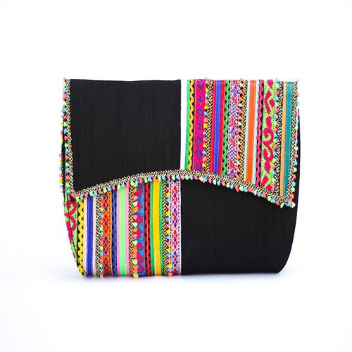 Black Vegan Clutch  Sling Bag