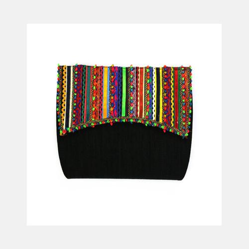 Black Rabari Vegan Clutch Bag