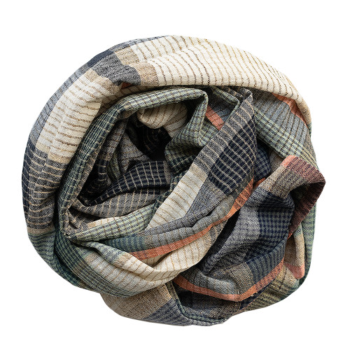 Infinity chequered cotton scarf