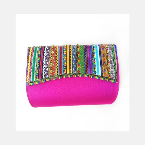 Rose Pink Clutch Bag
