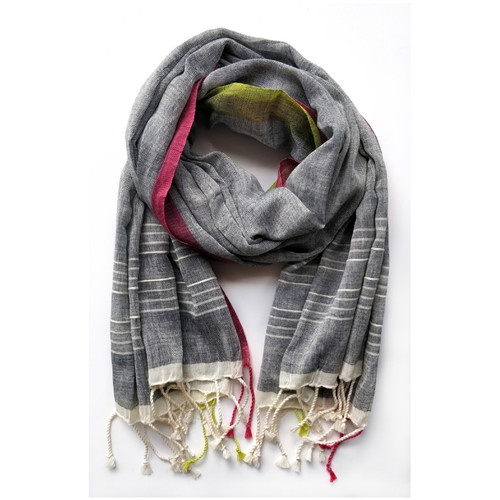 Neelam- Grey Organic Cotton Scarf