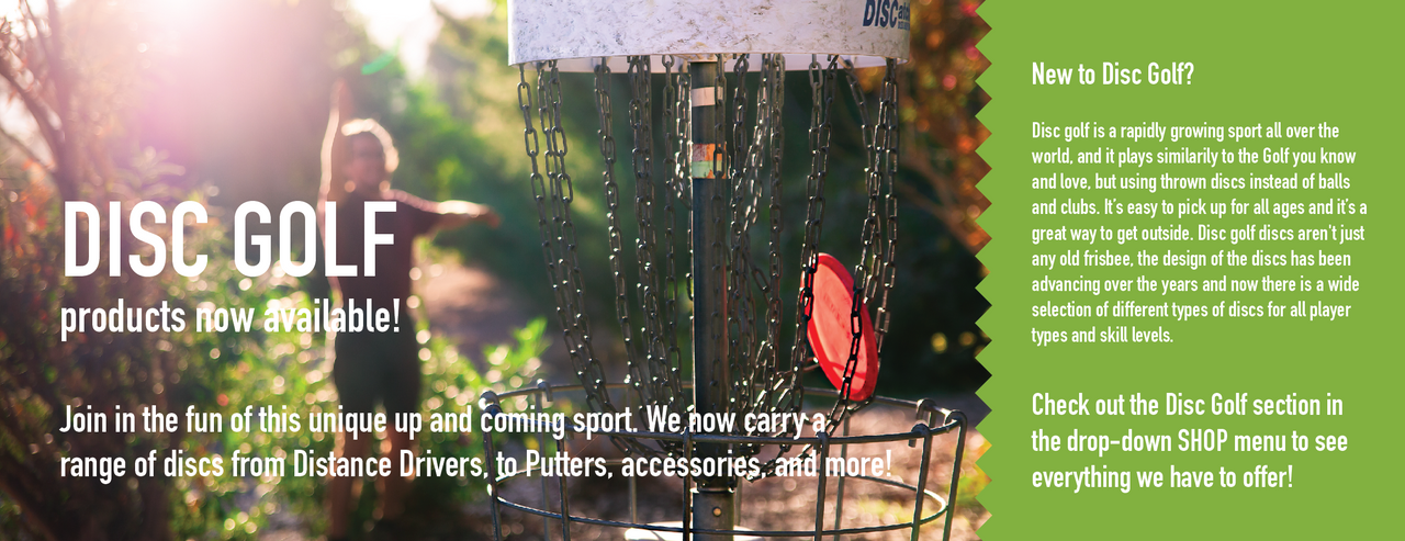 Disc Golf Products Now Available!