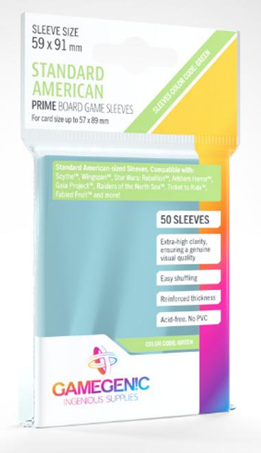 Card Sleeves: Gamegenic: Standard American Prime: Code Green