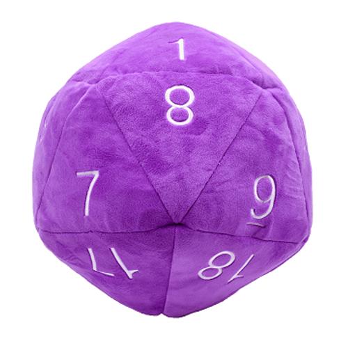 Jumbo D20 Plush Purple