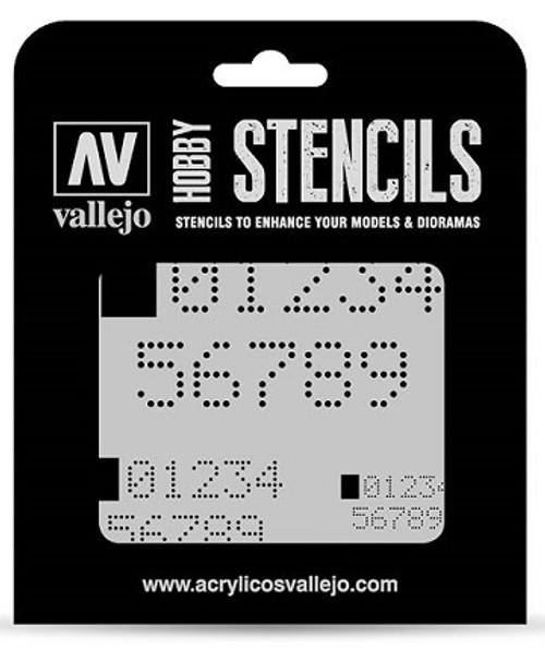 Vallejo: Hobby Stencil Digital Numbers